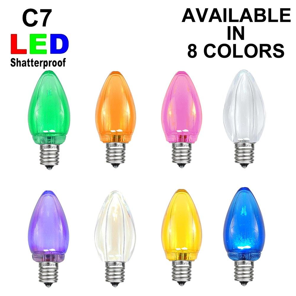 Picture of C7 - Smooth Transparent Plastic LED Replacement Bulbs ** On Sale**
