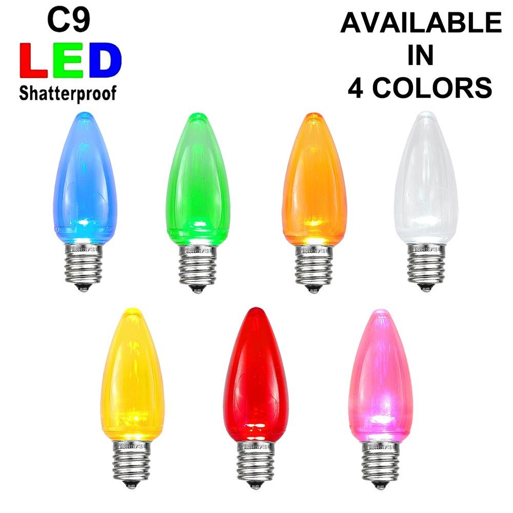 Picture of C9 - Smooth Transparent Plastic SMD LED Replacement Bulbs ** On Sale**