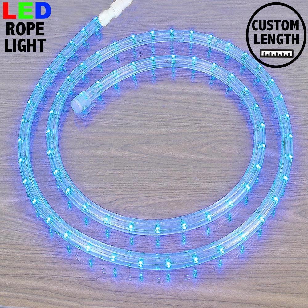 "Picture of Blue LED Custom Rope Light Kit 1/2"" 2 Wire 120v"