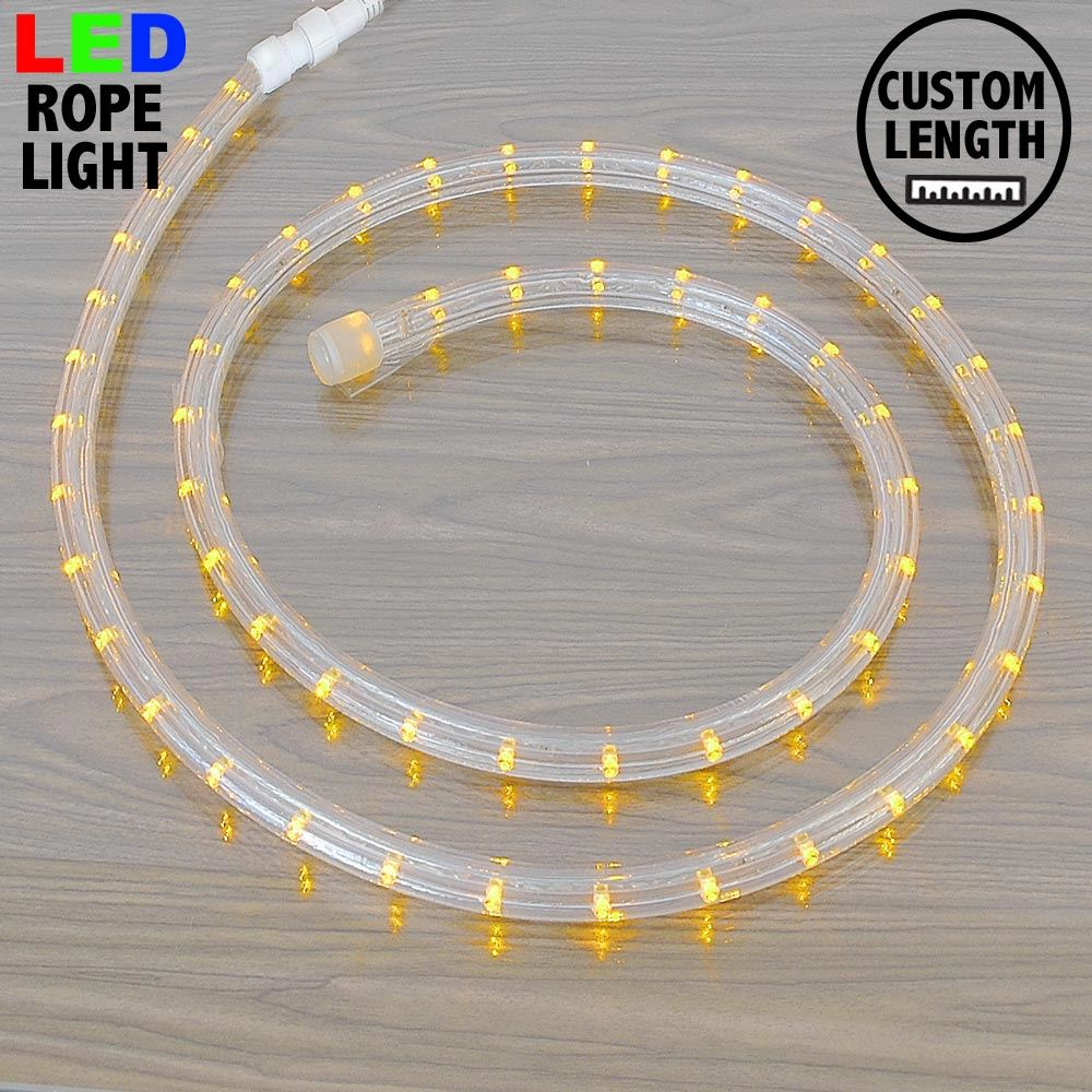 "Picture of Yellow LED Custom Rope Light Kit 1/2"" 2 Wire 120v"