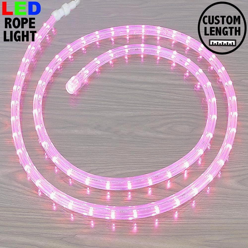 "Picture of Pink LED Custom Rope Light Kit 1/2"" 2 Wire 120v"