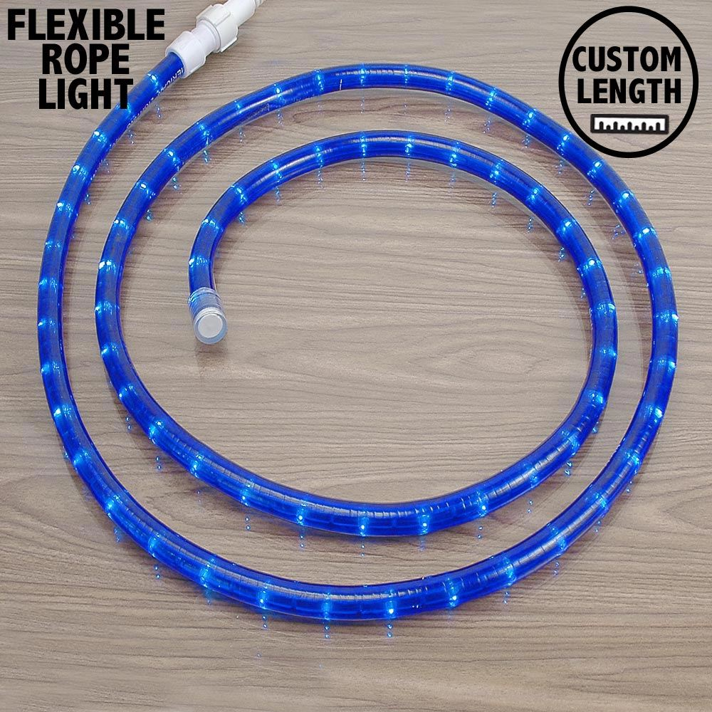 "Picture of Blue Rope Light Custom Cut 1/2"" 120V Incandescent *ON SALE*"
