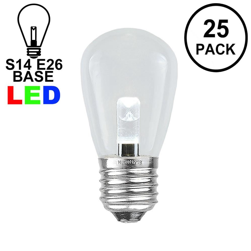 Picture of Designer Series Pure White S14 LED Medium Base e26 Bulbs 25 Pack