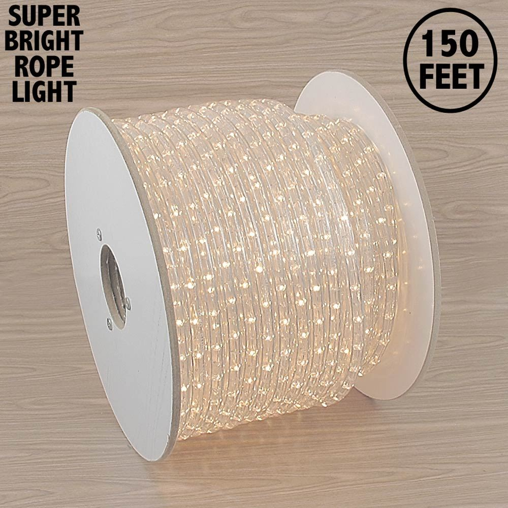 "Picture of 150 Ft Clear Rope Light Spool 1/2"" 120 Volt **On Sale**"