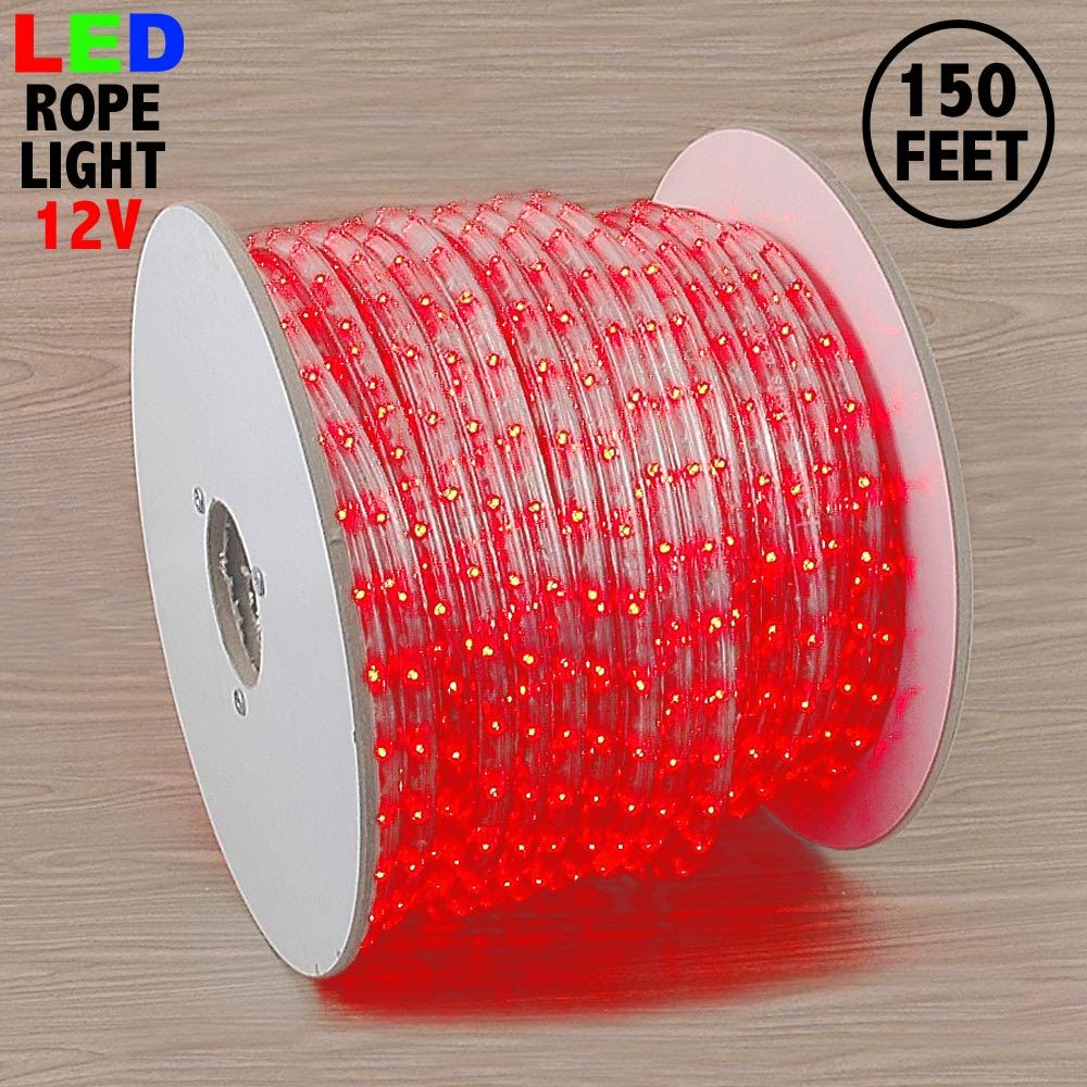 "Picture of Red LED Spool 150' 1/2"" 2 Wire 12V"