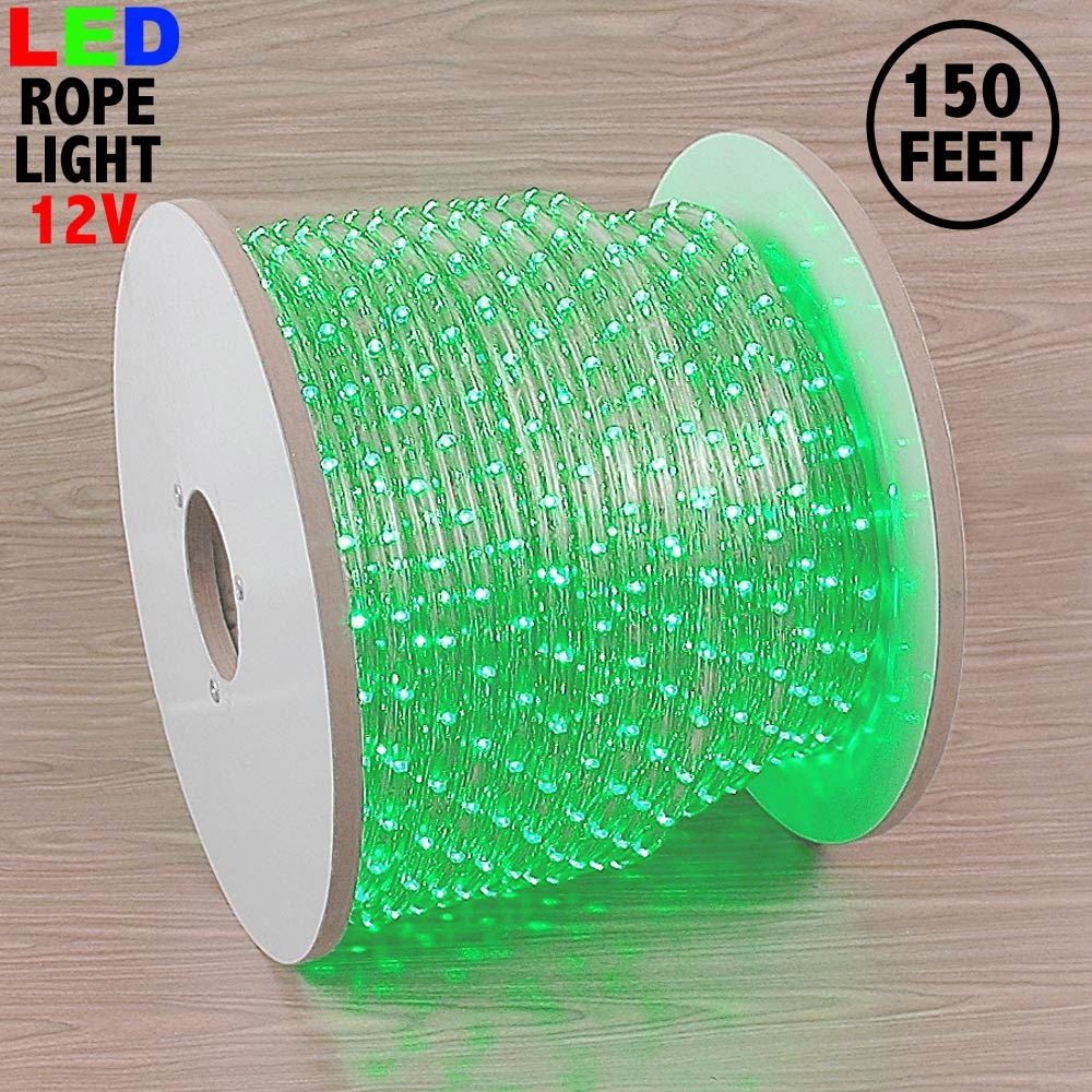 "Picture of Green LED Spool 150' 1/2"" 2 Wire 12V"
