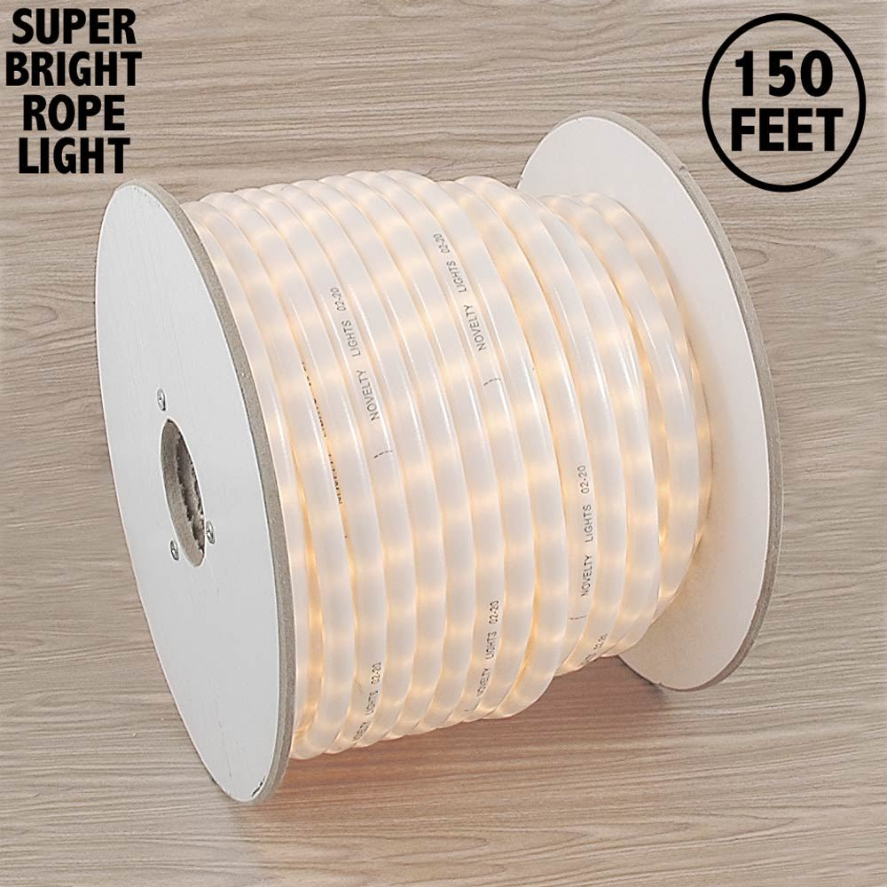 "Picture of 150 Ft Frosted White Rope Light Spool 1/2"" 120 Volt"