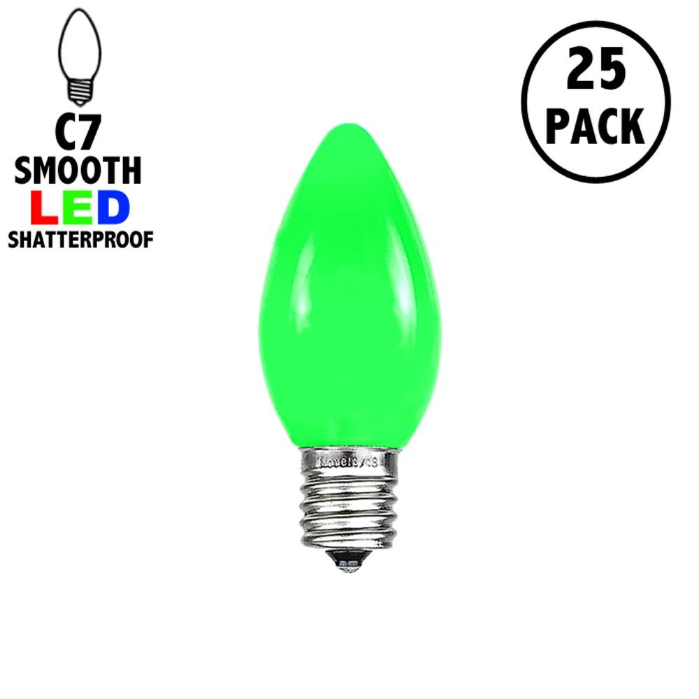 Picture of C7 - Green - Ceramic (plastic) LED Replacement Bulbs - 25 Pack