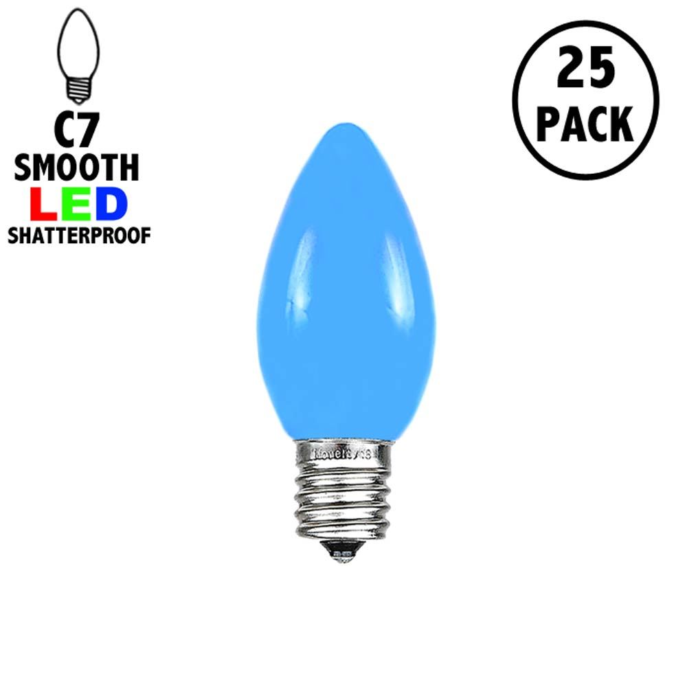 Picture of C7 - Blue - Ceramic (plastic) LED Replacement Bulbs - 25 Pack