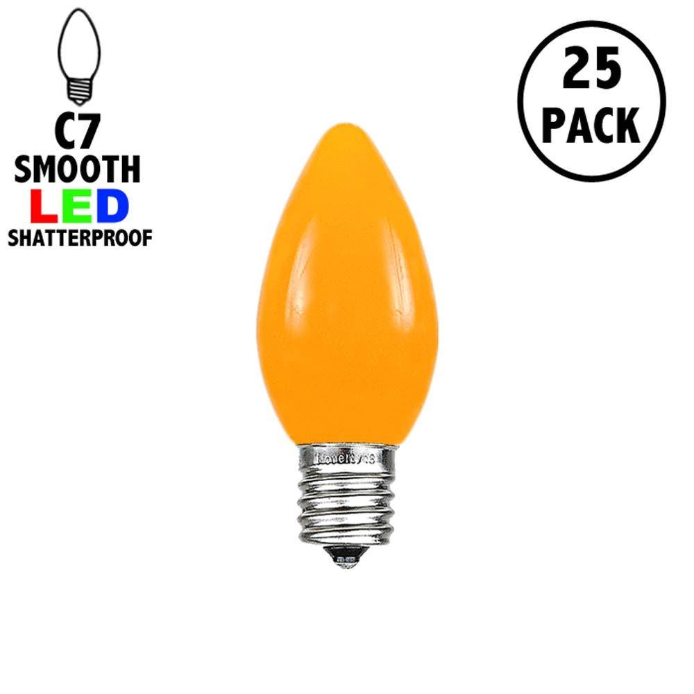 Picture of C7 - Orange - Ceramic (plastic) LED Replacement Bulbs - 25 Pack