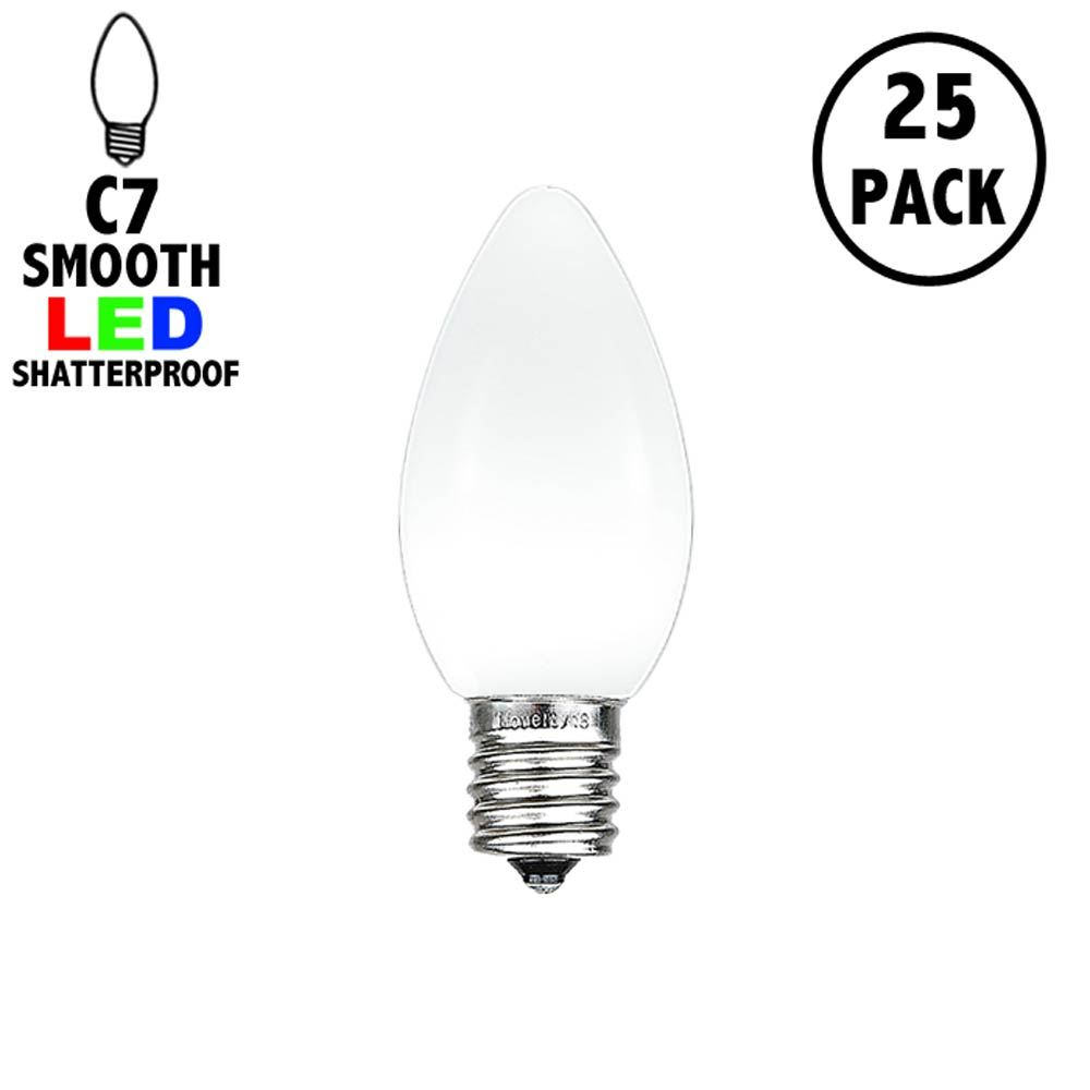 Picture of C7 - White - Ceramic (plastic) LED Replacement Bulbs - 25 Pack