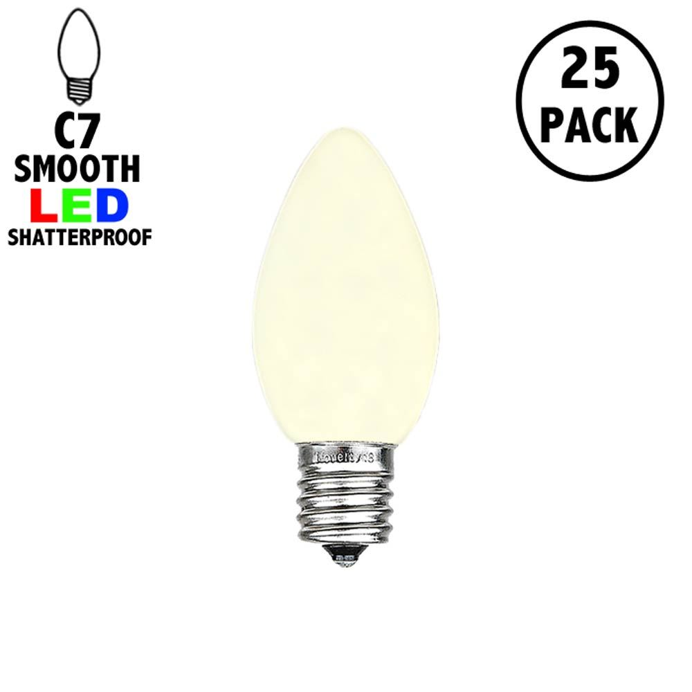 Picture of C7 - Warm White - Ceramic (plastic) LED Replacement Bulbs - 25 Pack
