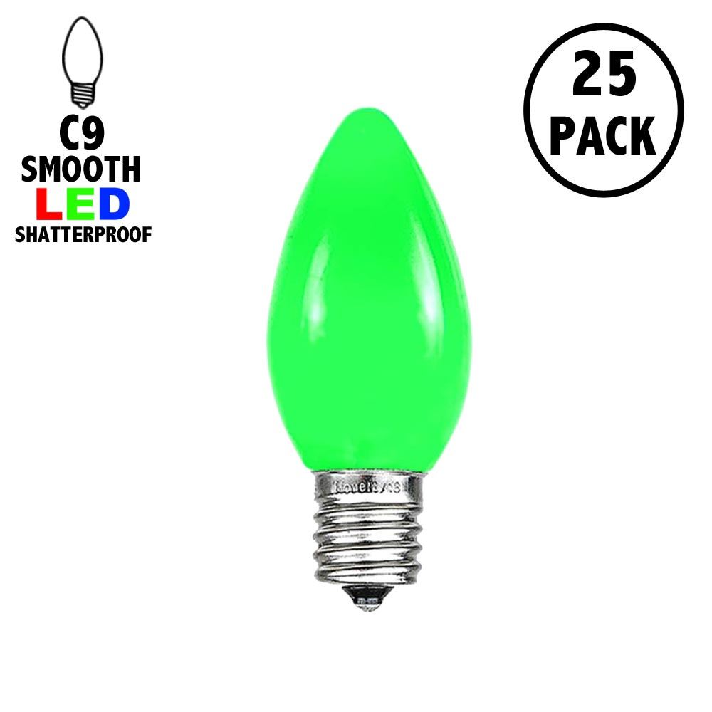 Picture of C9 - Green - Ceramic (plastic) LED Replacement Bulbs - 25 Pack
