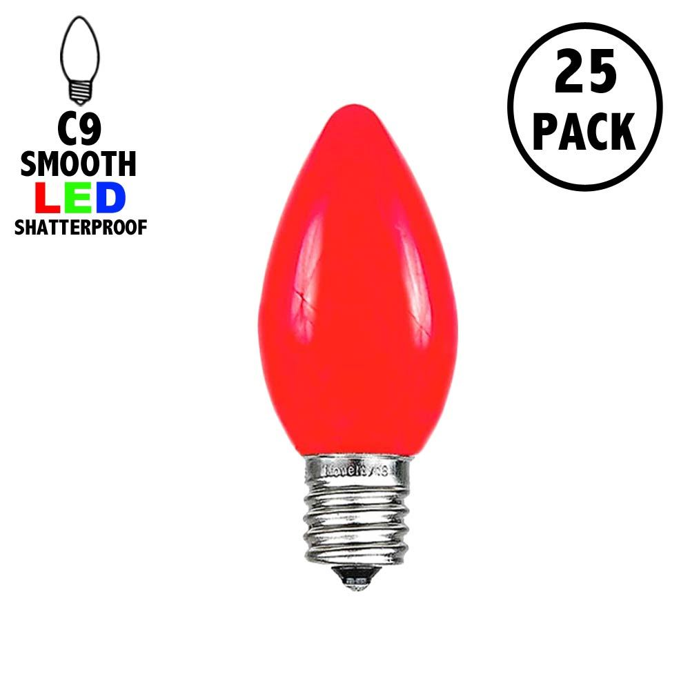 Picture of C9 - Red - Ceramic (plastic) LED Replacement Bulbs - 25 Pack