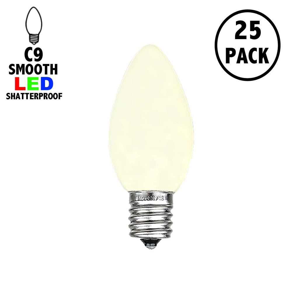 Picture of C9 - Warm White - Ceramic (plastic) LED Replacement Bulbs - 25 Pack