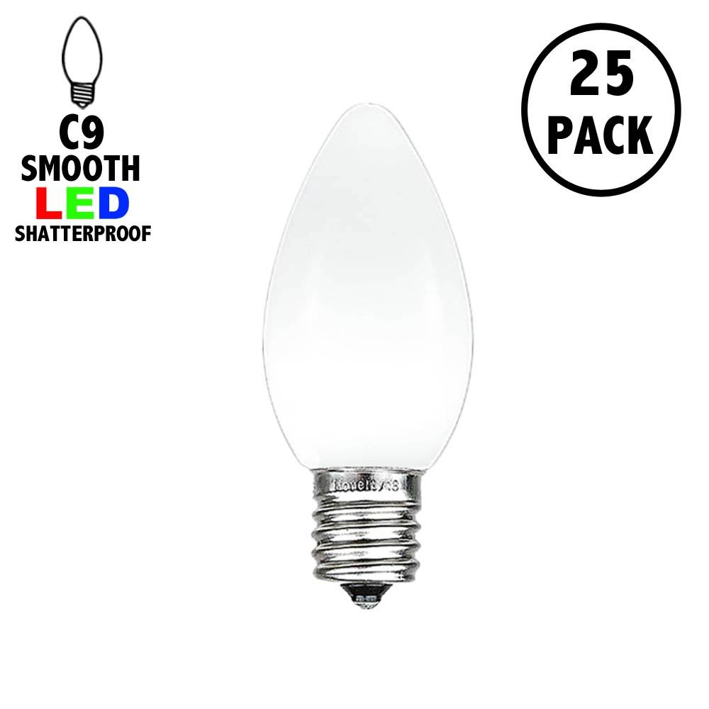 Picture of C9 - White - Ceramic (plastic) LED Replacement Bulbs - 25 Pack
