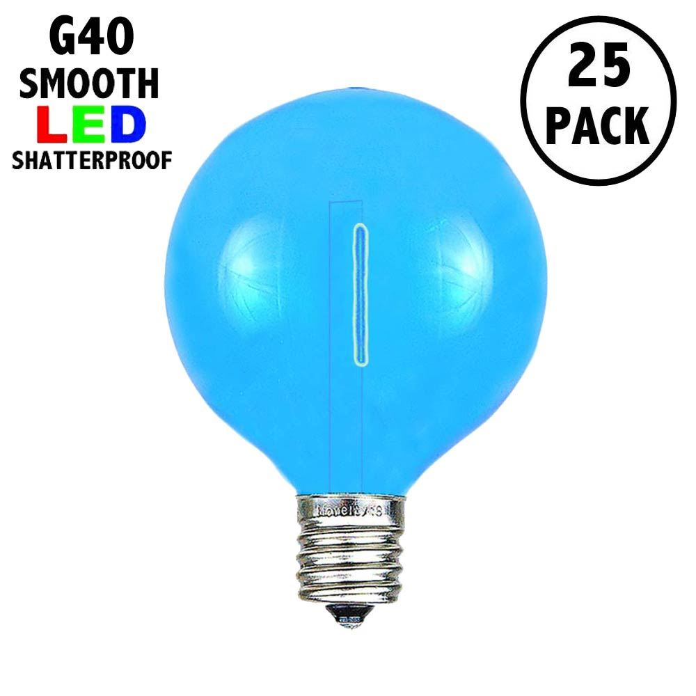 Picture of Blue - G40 - Plastic Filament LED Replacement Bulbs - 25 Pack