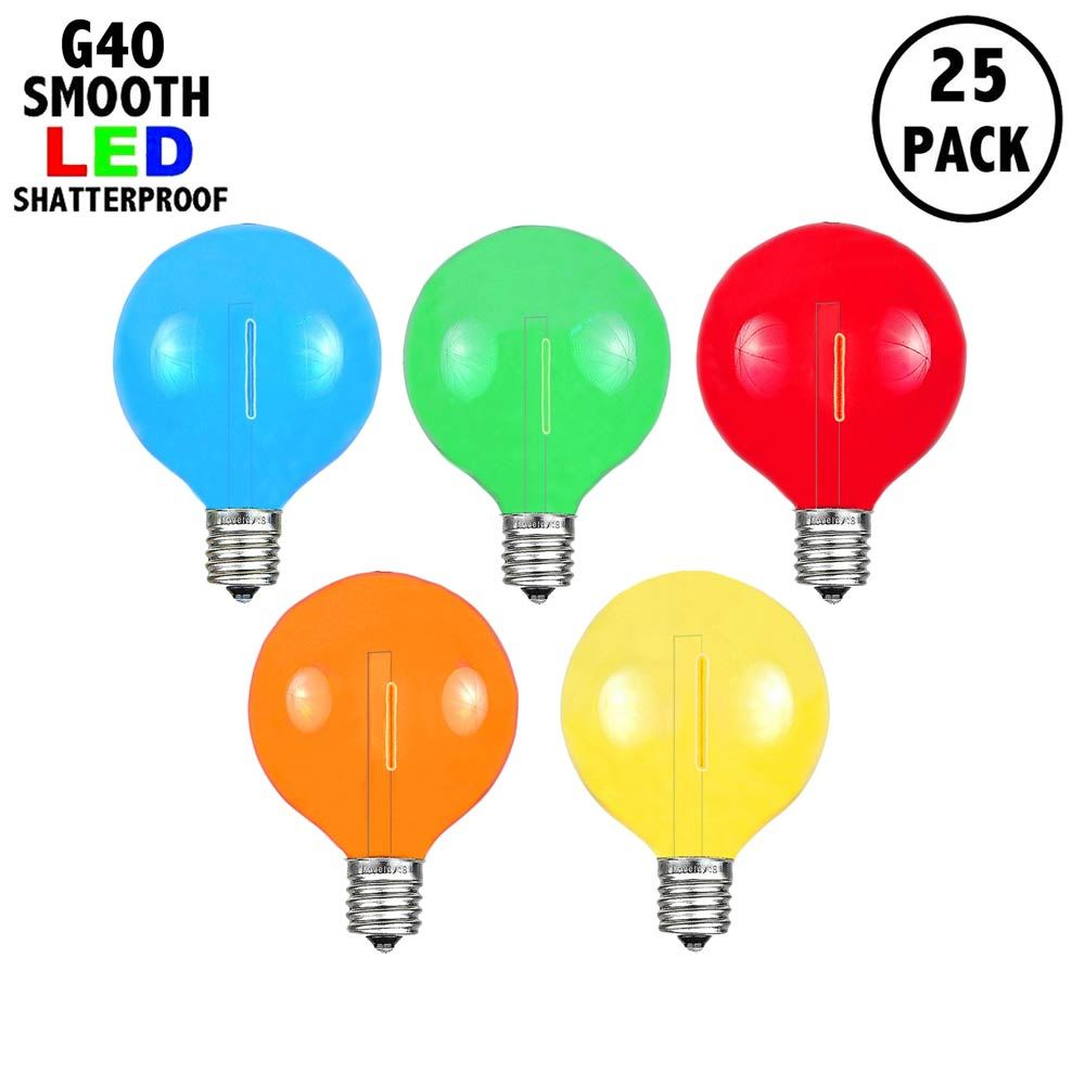 Picture of Multi - G40 - Plastic Filament LED Replacement Bulbs - 25 Pack