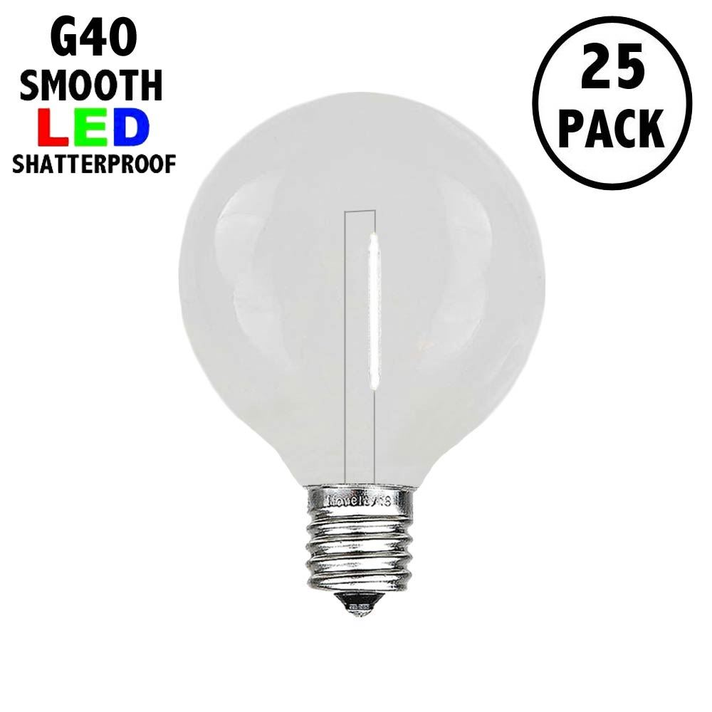 Picture of Pure White - G40 - Plastic Filament LED Replacement Bulbs - 25 Pack