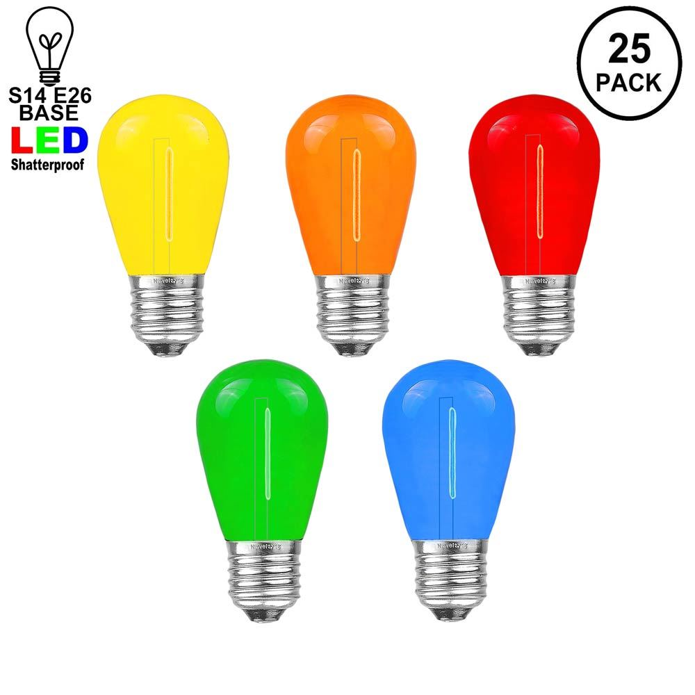 Picture of Multi S14 LED Plastic Filament Medium Base e26 Bulbs  - 25pk