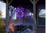 "Picture of 24"" Halloween Spider LED Rope Light Motif"