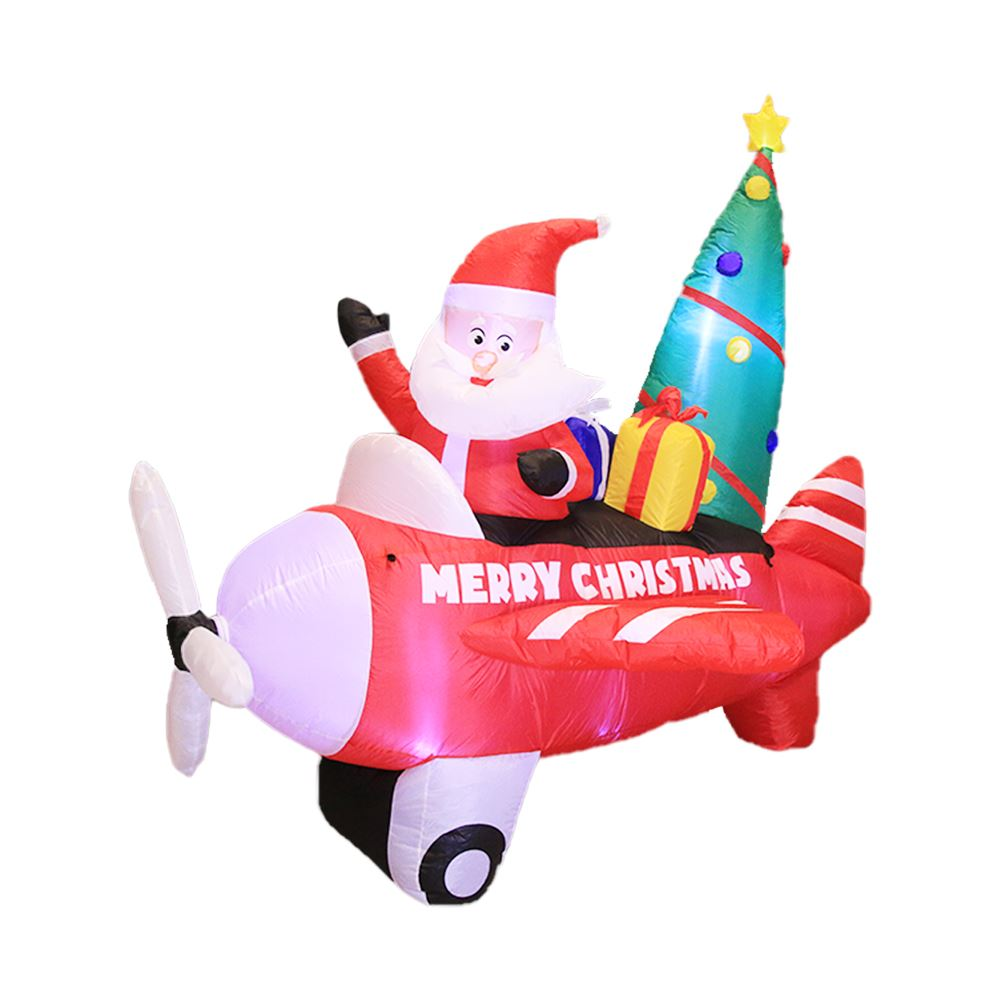 Picture of 8' Inflatable Swirling Santa in Plane