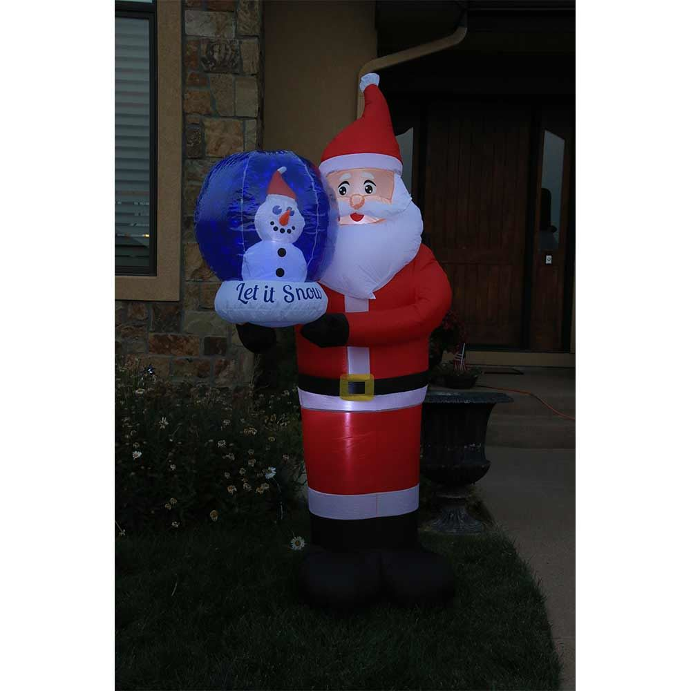 Picture of 7.5' Inflatable Santa with Snow Globe