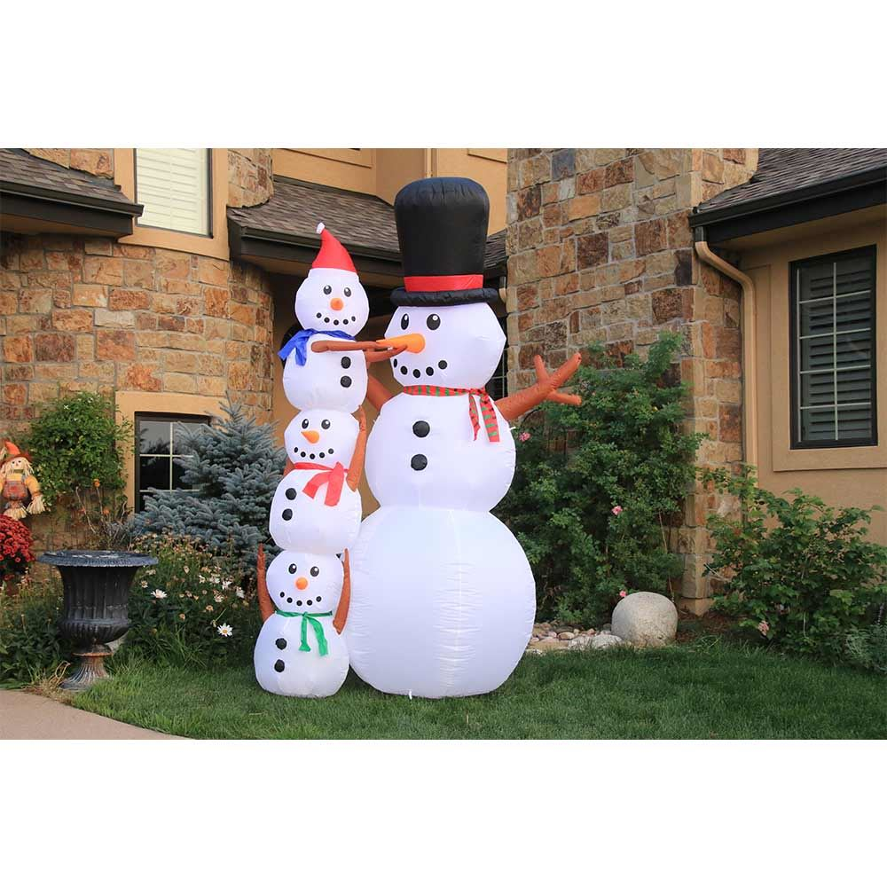 Picture of 10' Inflatable Snowman Scene