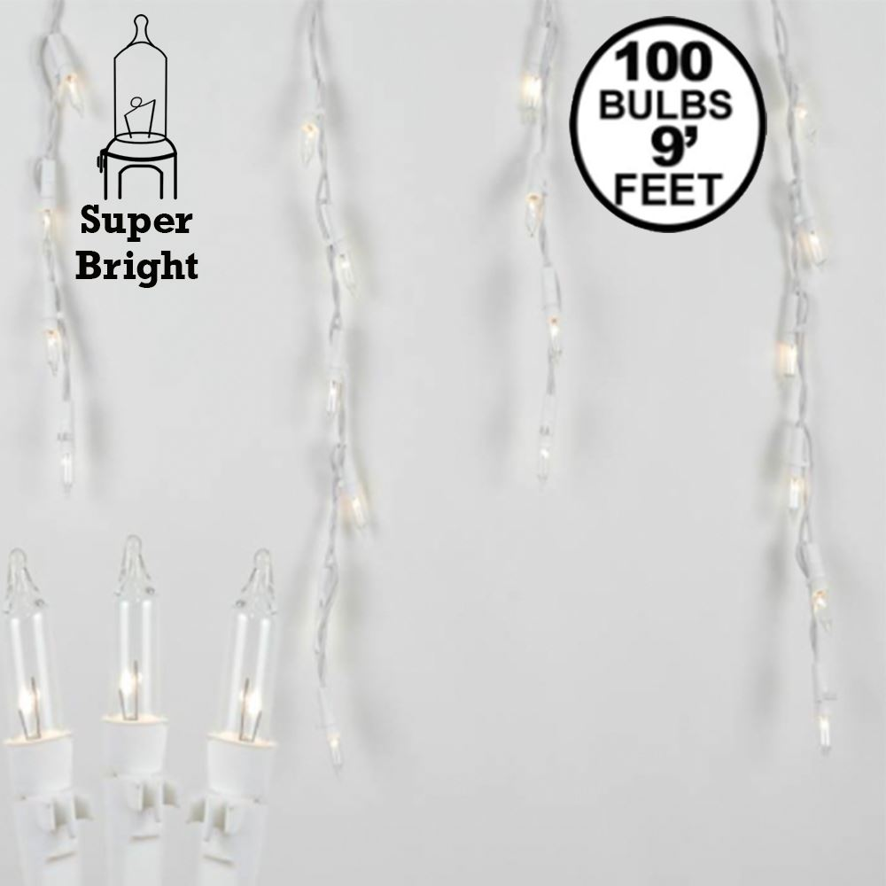 Picture of Pro-Line Icicle Lights White Wire Medium Drops