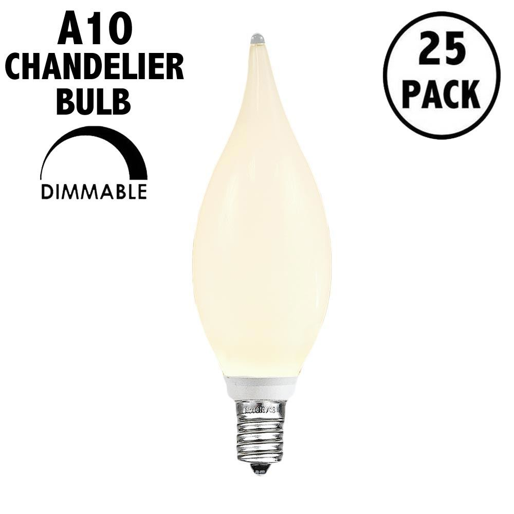 Picture of (25pk) CA10 LED Frosted Warm White Chandelier Light Bulb**ON SALE**