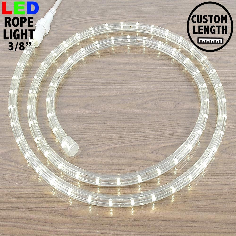 "Picture of Warm White LED Custom Mini Rope Light Kit 3/8"" 2 Wire 120v"